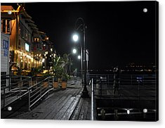 Acrylic Print featuring the digital art Santa Monica Pier by Gandz Photography