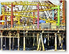 Santa Monica Pier Over And Under Acrylic Print