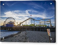 Event Horizon Santa Monica Pier Sunset Acrylic Print