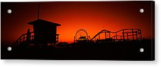 Santa Monica Pier, Santa Monica Beach Acrylic Print by Panoramic Images