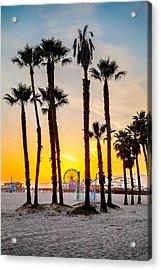 Santa Monica Sunset 2 Acrylic Print by Az Jackson