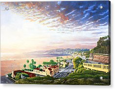 Santa Monica View North Acrylic Print by Douglas Castleman
