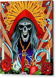 Santa Muerte Acrylic Print by Steve Hartwell
