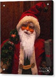 Santa Acrylic Print by Nancie DeMellia
