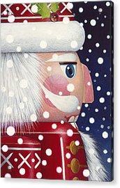 Santa Nutcracker Acrylic Print