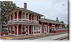 Acrylic Print featuring the photograph Santa Paula Station by Michael Gordon