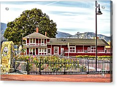 Santa Paula Train Station Acrylic Print by Jason Abando