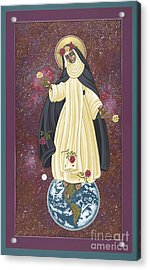 Acrylic Print featuring the painting Santa Rosa Patroness Of The Americas 166 by William Hart McNichols