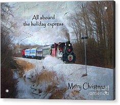 Acrylic Print featuring the digital art Santa Train - Waterloo Central Railway by Lianne Schneider