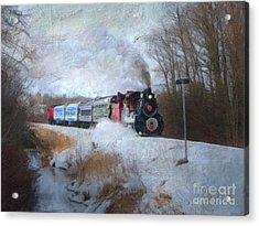 Acrylic Print featuring the digital art Santa Train - Waterloo Central Railway No Text by Lianne Schneider