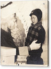 Acrylic Print featuring the photograph Santa Visit by James McAdams