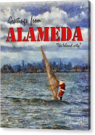 Acrylic Print featuring the photograph Alameda Santa's Greetings by Linda Weinstock