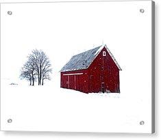 Santa's Barn Acrylic Print