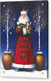 Santa's Cat Acrylic Print