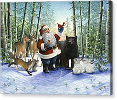 Santa's Christmas Morning Acrylic Print