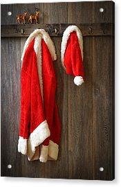 Santa's Coat Acrylic Print by Amanda Elwell