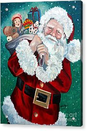 Santa's Coming To Town Acrylic Print by Julie Brugh Riffey