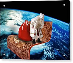 Santa's Flying Carpet Acrylic Print