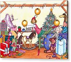 Santa's Giftwrapper Acrylic Print by Katherine Miller