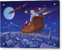 Acrylic Print featuring the painting Santa's Helper by Michael Humphries