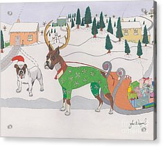 Santas Helpers Acrylic Print
