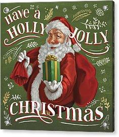 Santas List I Acrylic Print by Janelle Penner