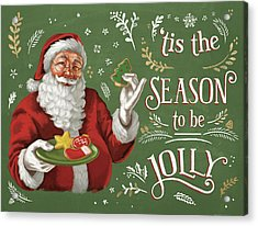 Santas List IIi Acrylic Print by Janelle Penner