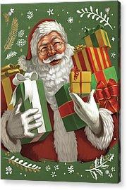 Santas List Iv Crop Acrylic Print by Janelle Penner
