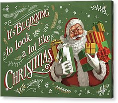 Santas List Iv Acrylic Print by Janelle Penner