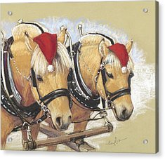 Santa's Little Helpers Acrylic Print by Tracie Thompson