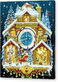 Santas Workshop Cuckoo Clock Acrylic Print