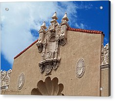 Acrylic Print featuring the photograph Sante Fe Theatre by Sylvia Thornton