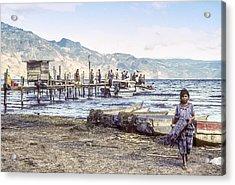 Santiago Atitlan Dock Acrylic Print
