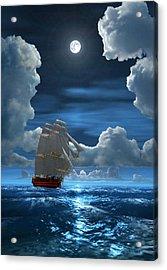 Santisima Trinida In The Moonlight 2 Acrylic Print