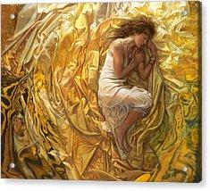 Acrylic Print featuring the painting Santita  by Mia Tavonatti