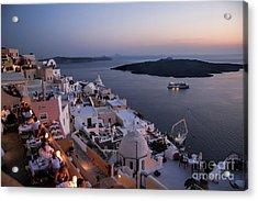 Santorini At Dusk Acrylic Print