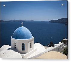 Santorini Church On A Summer Day Acrylic Print