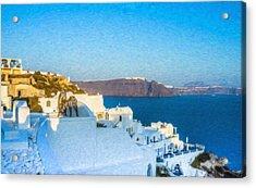 Santorini Grk4163 Acrylic Print