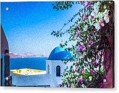 Santorini Grk4166 Acrylic Print