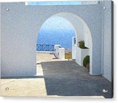Santorini Grk8681 Acrylic Print