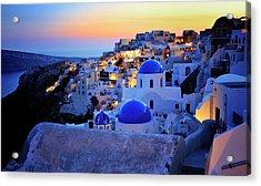 Santorini Island, Greece Acrylic Print