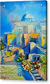 Santorini Light Acrylic Print