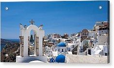 Acrylic Print featuring the photograph Santorini Mid-summer Day by Don McGillis