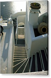 Acrylic Print featuring the photograph Santorini Stairs by Colette V Hera  Guggenheim