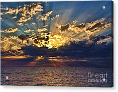 Acrylic Print featuring the photograph Santorini Sunset by Shirley Mangini