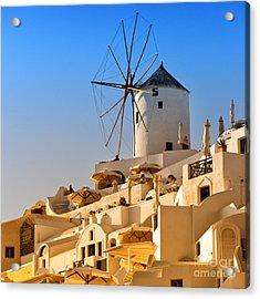 Santorini Windmill 05 Acrylic Print