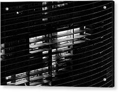 Sao Paulo - Brazil - Detail Of Copan Building By Night Acrylic Print by Carlos Alkmin
