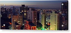 Sao Paulo Downtown At Dusk Acrylic Print