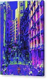 Sao Paulo Downtown At Night Acrylic Print by Steve Ohlsen