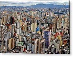 Acrylic Print featuring the photograph Sao Paulo by Henry Kowalski